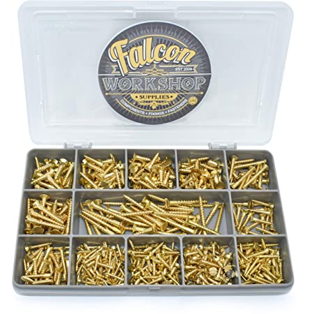 Solid Brass Slotted Countersunk Woodscrew ~ All Gauges /& Sizes inc 20, No.10 x 1.1//4 2,4,6,7,8,10 Screw
