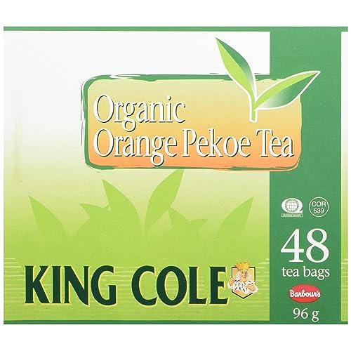 King Cole Tea Organic Orange Pekoe Tea, 48 Count