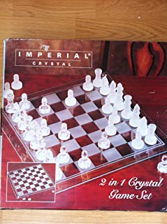 Imperial Crystal Chess and Checker Game Set