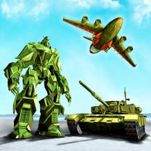 Juego de transporte del ejército de EE. UU .: tanque de transformación de robots y avión del ejército