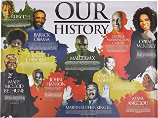"""Tri-Seven Entertainment Our Black History Poster African American Famous People with Short Biography, 24"""" x 18"""""""