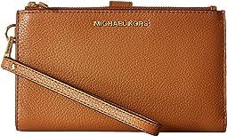 MICHAEL Michael Kors Adele Double-Zip Wristlet 7+