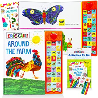 Eric Carle Sound Books Set for Kids Toddlers - Around The Farm World of Eric Carle Board Book Bundle with Coloring Book an...