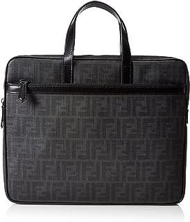 Fendi Men's Zucca Slim Briefcase (One Size, Black)