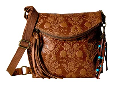 The Sak Silverlake Crossbody (Tobacco Floral Embossed) Cross Body Handbags