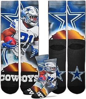 For Bare Feet Dallas Cowboys Ezekiel Elliott City Star Socks