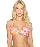 LAUREN Ralph Lauren - Lush Tropical Twist Molded Halter Bra Top
