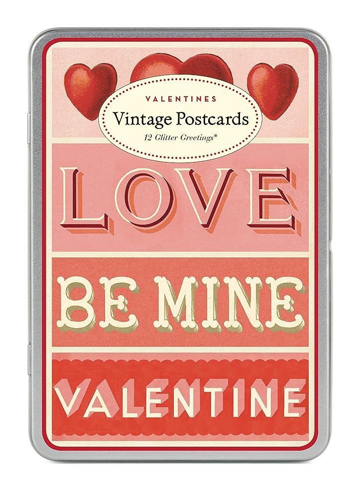 Cavallini Papers & Co. Cavallini Valentines Glitter Vintage Postcards