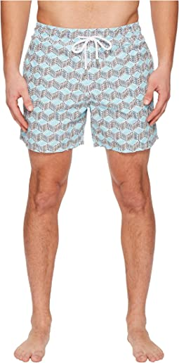 Moorea Fish Cube Swim Trunk