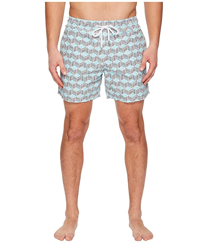 Vilebrequin Moorea Fish Cube Swim Trunk (Azure) Men