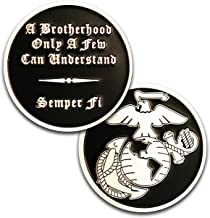 Marine Corps Brotherhood Challenge Coin! Amazing USMC Custom Coin! Designed for Marines by Marines. Officially Licensed Coin!