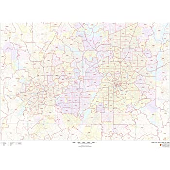Amazon Com Dallas Fort Worth Texas Zip Codes 48 X 36