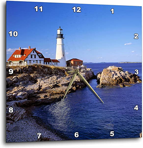 3dRose DPP 90758 2 Maine Portland Head Lighthouse US20 RER0011 Ric Ergenbright Wall Clock 13 By 13 Inch