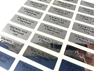 1,000 Tamper Evident Foil Security Labels Sticker Seals Warranty Void if Removed