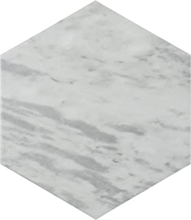 SomerTile FEQ8BXL Murmur Bardiglio Hexagon Porcelain Floor and Wall Tile, 7