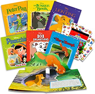 Disney Classics Storybook Collection Disney Pop Up Book Bundle ~ 6 Disney Bedtime Favorite Story Books | Disney Classic Bo...