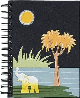 Mr. Ellie Pooh Handmade Fair Trade Elephant Embellished Black Notebook Journal Sketch Book