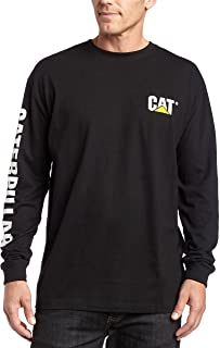 Caterpillar Men's Trademark Banner Long Sleeve T-Shirt...