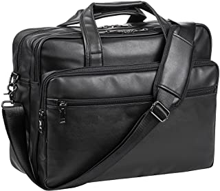 کیف لپ تاپ چرمی ، کیف شانه کیف دستی کامپیوتر 15.6 اینچ 17.3 اینچی مسنجر کیف دستی دستی