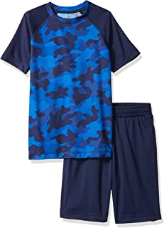 Amazon Brand - Spotted Zebra Boys' Toddler & Kids Active Short-Sleeve T-Shirt and Shorts Set