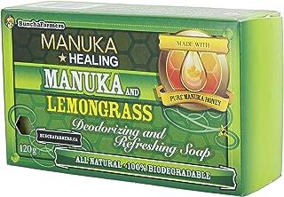 BunchaFarmers All Natural 100% Biodegradable Healing Manuka Honey and Lemongrass Deodorizing and Refreshing Soap Bar (Made in Canada)