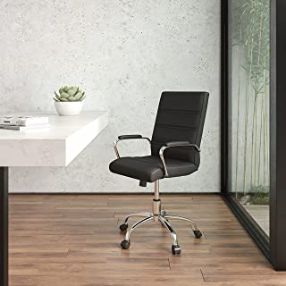 Flash Furniture Office Chair, Metal, Black, 60.96 x 58.42 x 103.51 cm