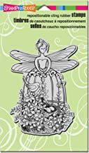 "STAMPENDOUS CRR245 Fairy Aviary Cling Stamp, 7.75"" by 4.5"", Grey"