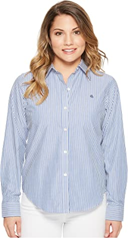 LAUREN Ralph Lauren - Petite Striped Cotton Shirt