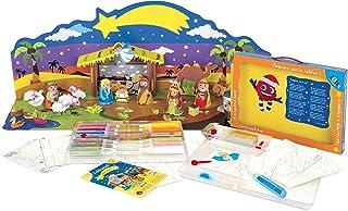 Sabbiarelli Sand-it for Fun - Kit Maxi Presepe 3D Nativity - Set Lavoretti Creativi: Crea e Colora con la Sabbia Il Tuo Pr...