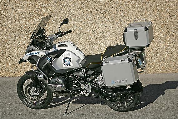 Mytech Seitenkoffer Motorradkoffer Aus Hochfestem Aluminium 47l 41l Für Originalen Träger R1200 Gs Adventure Lc R1250 Gs Adventure F850 Gs Adventure Silber Auto