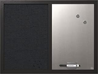 MasterVision Combo Dry Erase Whiteboard and Grey Fabric Bulletin Board, 18
