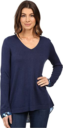 Key Item Mixed Media Sweater