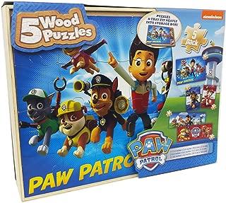 Paw Patrol 5 Puzzles de Madera Caja De Almacenamiento
