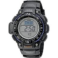 Men's SGW-1000-1ACR Triple Sensor Digital Display Quartz Black Watch