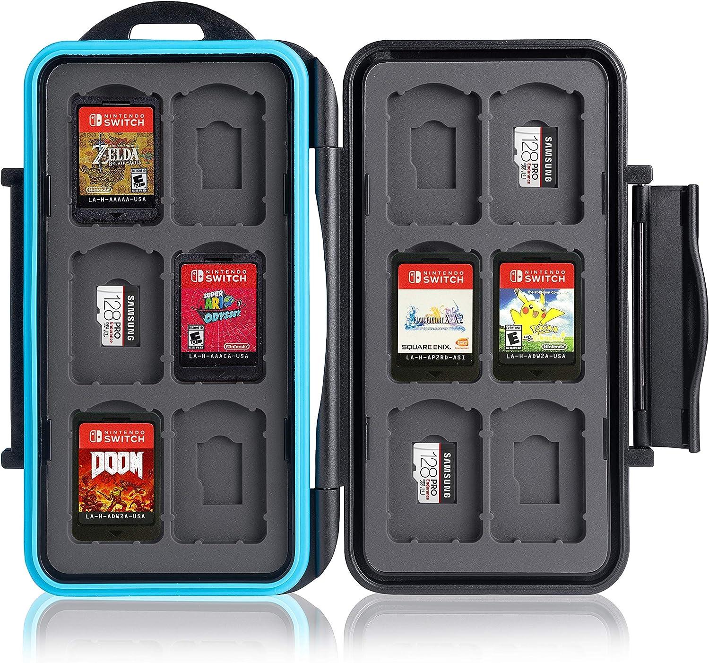 Caja de protección. para 12 Juegos de Nintendo Switch • Estuche para Tarjetas de Memoria • Bolsa de Viaje • Estuche Protector • Caja Fuerte para Tarjetas • Estuche Cartuchos: Amazon.es: Electrónica