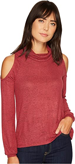 Bey Cold Shoulder Cozy Top