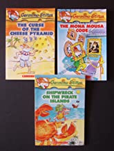 Geronimo Stilton Set of 3 Books (The Mona Mousa Code ~ Shipwreck on the Pirate Islands ~ The Curse of the Cheese Pyramid)