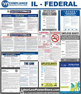 2019 Illinois IL State Federal All in 1 Labor Law Poster Workplace Compliance