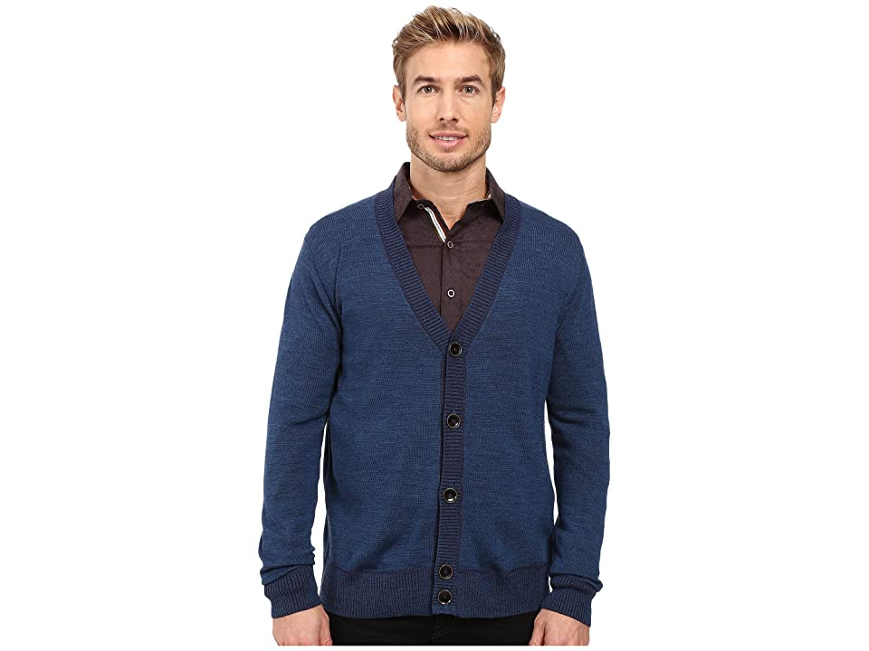Robert Graham Berengar Cardigan (Heather Teal) Men