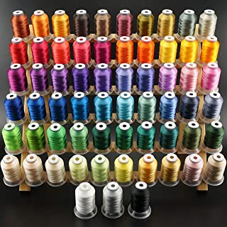 New brothread 63 Brother Couleurs Polyester Fil machine à broder pour Brother/Babylock/Janome/Singer/Kenmore Machine 500M ...