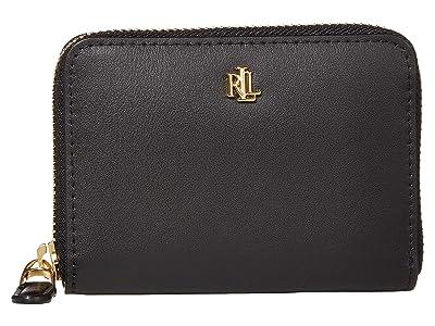 LAUREN Ralph Lauren Small Zip Wallet (Black) Wallet Handbags