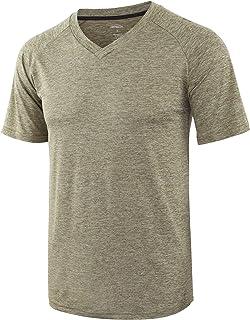 Men's Lightweight Jersey Quick Dry Tagless Workout Gym Running T Shirts