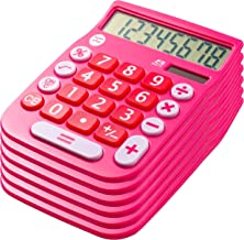 Office + Style 8 Digit Dual Powered Desktop Calculator with Large LCD Display, Pink (Pack of 6) photo