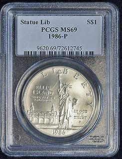 1986 P Statue of Liberty Ellis Island Commemorative Silver Dollar $1 MS 69 PCGS