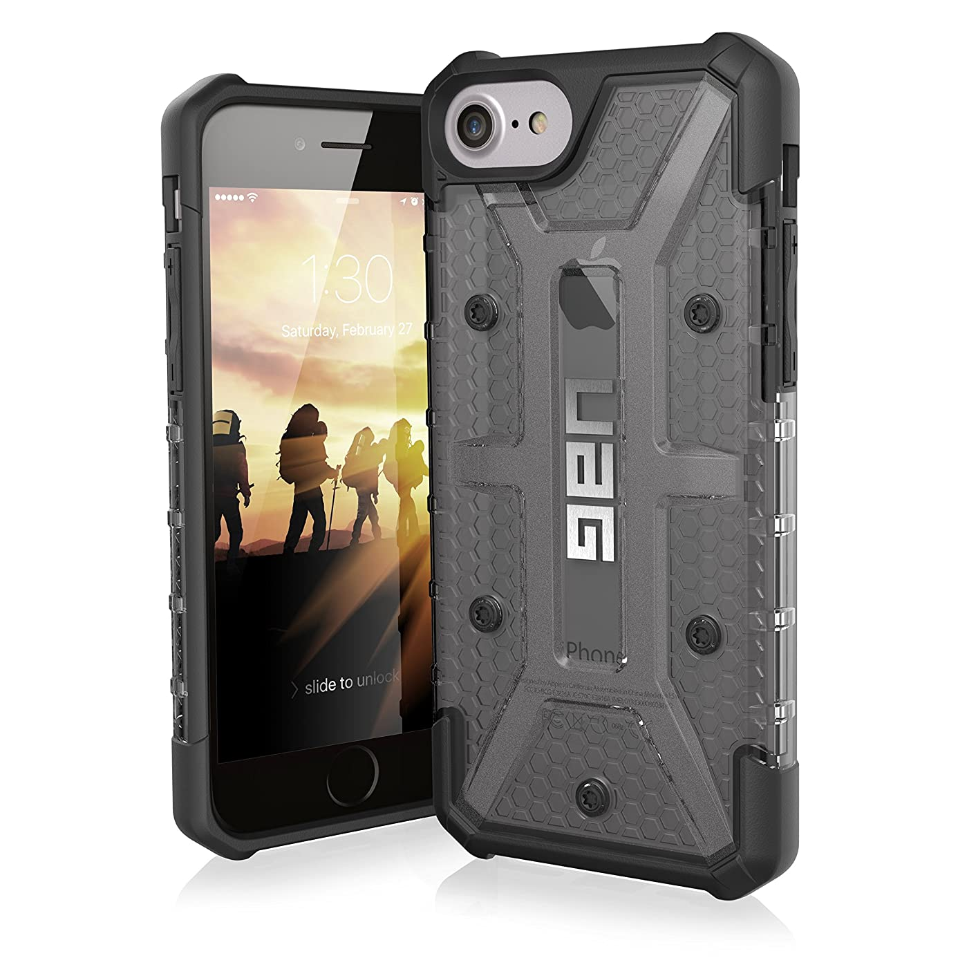UAG iPhone 8 / iPhone 7 / iPhone 6s [4.7-inch screen] Plasma Feather-Light Rugged [ASH] Military Drop Tested iPhone Case tdy4671420