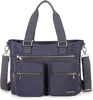 Nylon Shoulder Bag Handbag, Teacher Nurse Tote Organizer Travel Work Bag Purse