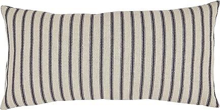 Stone & Beam Classic Ticking Stripe Throw Pillow - 12 x 24 Inch, Indigo