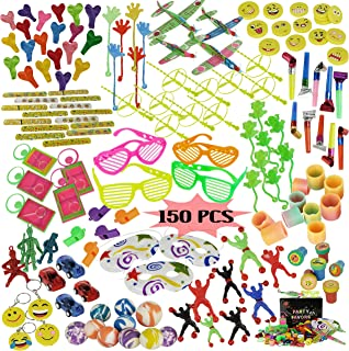 Party Favors for Kids Birthday Party- Bulk Novelty Toys for Girls and Boys - 150 Pc Party Prizes Toy Assortment for Goodie Bags Party Bags and Pinata Prizes