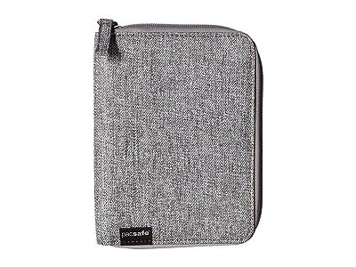 Pacsafe RFIDsafe LX150 RFID Blocking Zippered Passport Wallet (Tweed Grey) Wallet Handbags