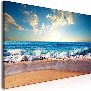 murando Mega XXXL Cuadro Playa Mar 160x80 cm - Cuadro Gigante único - Cuadro en Lienzo en Tamano XXL - Cuadro Grande - Decoración de Pared - Paisaje Cielo c-B-0384-ak-e